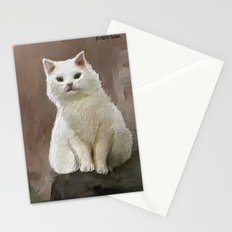 White cat Stationery Cards