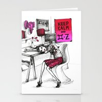 kenzo Stationery Cards featuring Monday Feelings by Isabelle Ewing