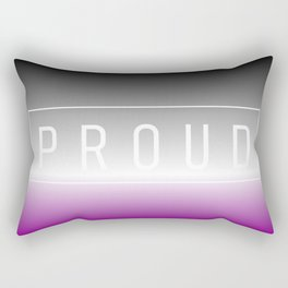 Asexual Flag v2 - Pride Rectangular Pillow