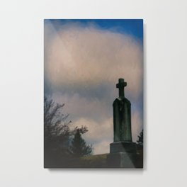 Grave on the Hill Metal Print