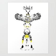 Hipster Totem Art Print