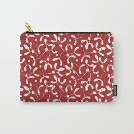 Rustic Mistletoe - Red Carry-All Pouch
