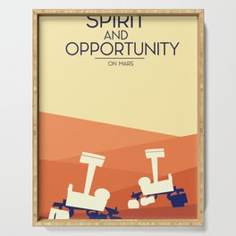 spirit and opportunity space rovers Serving Tray