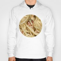 pasta Hoodies featuring Carbonara Pasta by Anand Brai