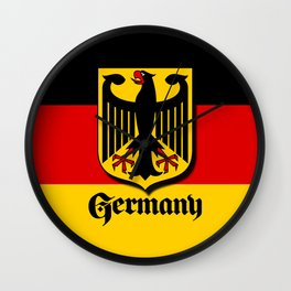 Germany Ueber Alles Country Symbol Wall Clock