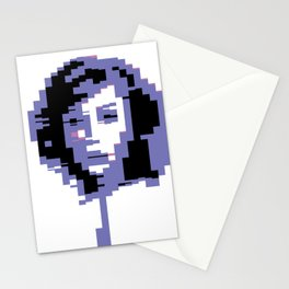 8 Bit Portrait of a Girl Stationery Cards