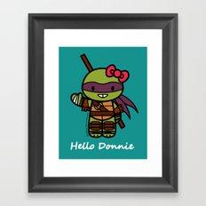 Hello Donnie Framed Art Print