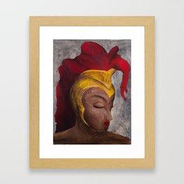 helmet of salvation Framed Art Print