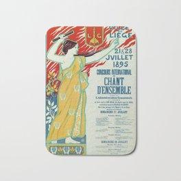 Art Nouveau concert ad Ville de Liège Bath Mat