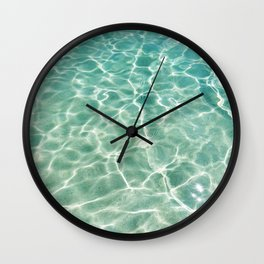 Clear Ocean Water Wall Clock