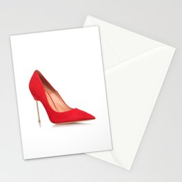 Red shoe Stationery Cards