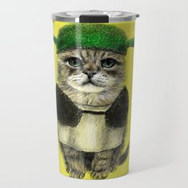 Shreky Cat Travel Mug