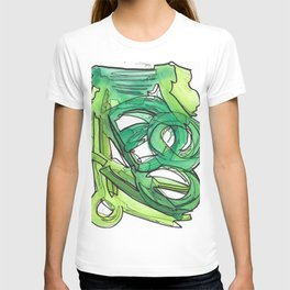 Nature's Lever Modern Watercolor Painting T-shirt