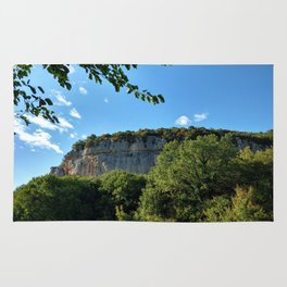 rock cliff at lim channel fjord istria croatia europe Rug