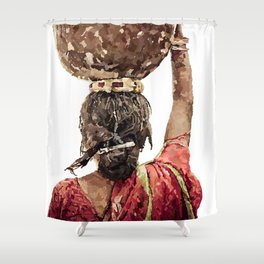 Changing like weather Shower Curtain