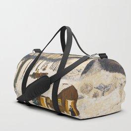 Anna Mary Robertson 'Grandma' Moses Sugaring Off American Folk Art Duffle Bag
