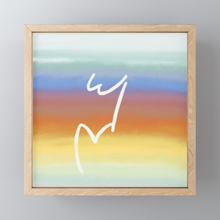 W&V Rises with the Sun Framed Mini Art Print