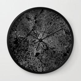 Atlanta map Georgia Wall Clock