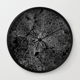 Atlanta map Georgia Wall Clock