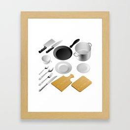 Kitchen tools Framed Art Print