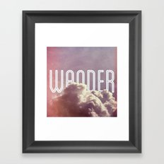 Wander (square) Framed Art Print
