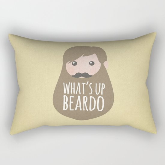 What's up beardo Rectangular Pillow