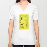 neymar V-neck T-shirts featuring World Cup Edition - Neymar / Brazil by Milan Vuckovic