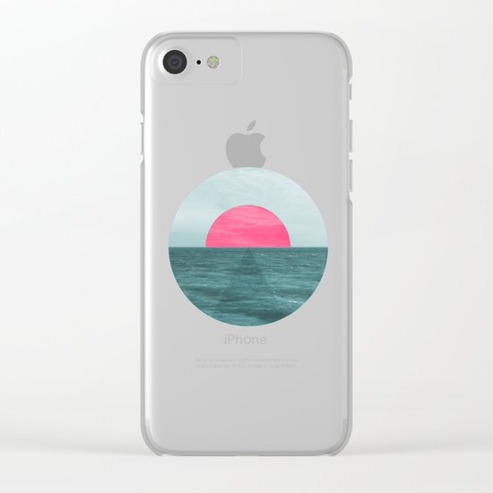 Magenta Sunset Clear iPhone Case