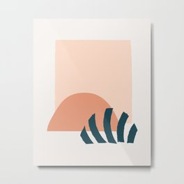 Abstract Mid Century Modern Minimal Shapes 13 Metal Print