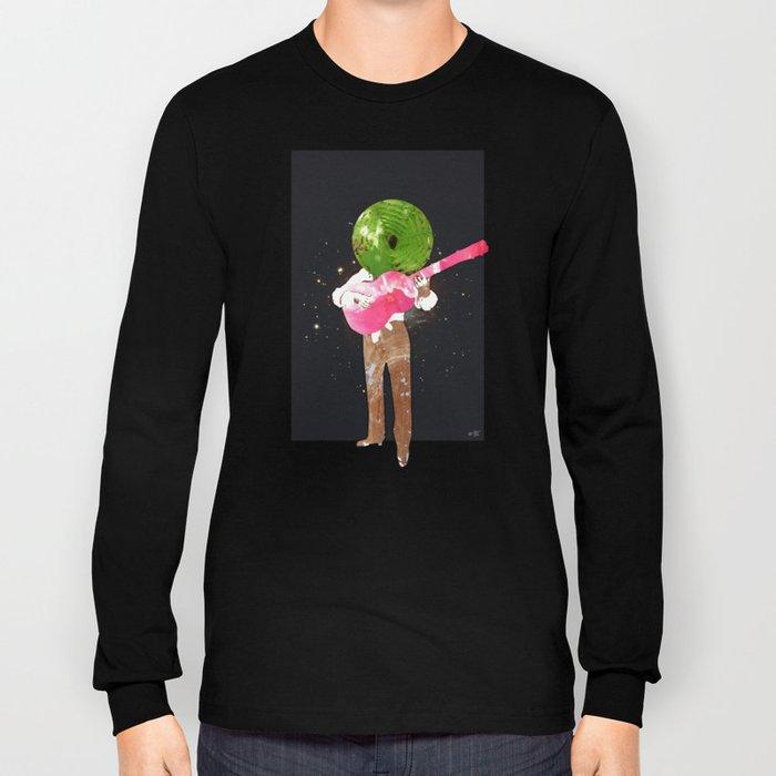 Guitar Man Collage Long Sleeve T-shirt