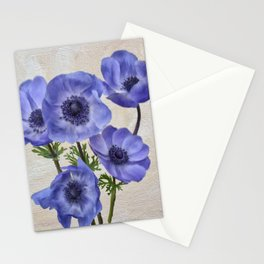 Pretty Periwinkle Poppies Stationery Cards
