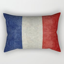 Flag of France, vintage retro style Rectangular Pillow
