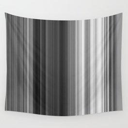 Black White Gray Thin Stripes Wall Tapestry