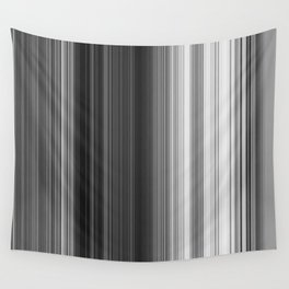 Black White Gray Thin Stripes Wall Tapestry