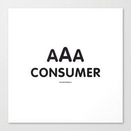 Triple-A Consumer Canvas Print