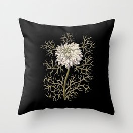 Mysterious Medieval Flower Throw Pillow