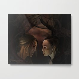 I'm so so sorry // our demons are alike // abby & raven Metal Print