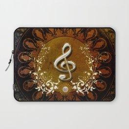 Music, wonderful decorative clef Laptop Sleeve