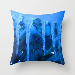 Blue Melody Throw Pillow