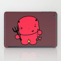 satan iPad Cases featuring Littlest Satan Approves by OneWeirdDude