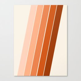 The Skinney - 70's abstract minimal stripe striped pattern retro throwback 1970s art decor Canvas Print