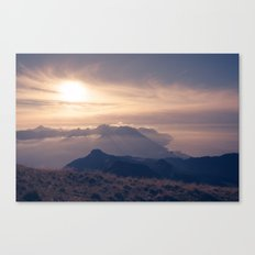 Autumn dusk Canvas Print