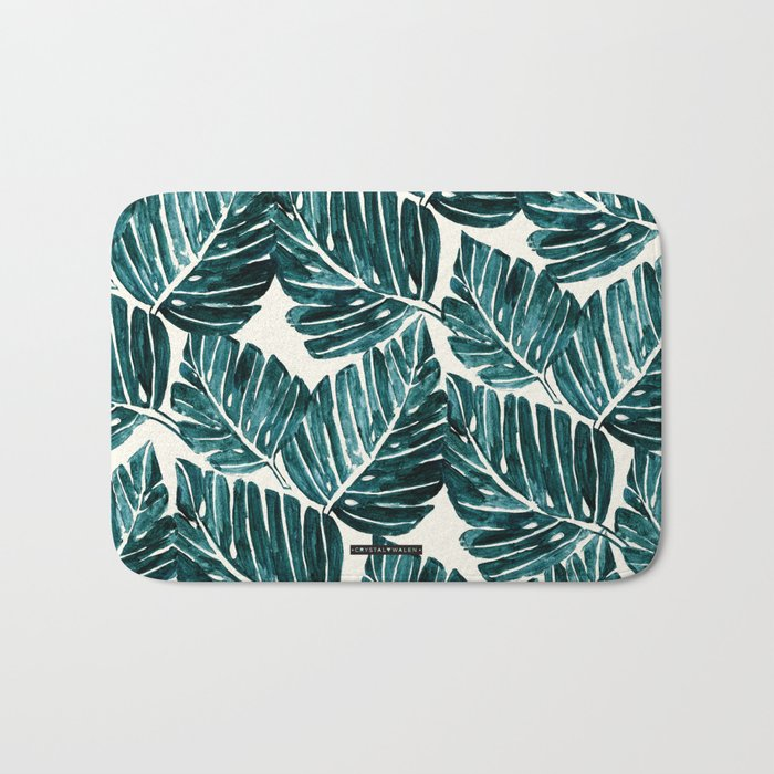 Jungle Leaves Bath Mat