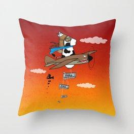 Muso Milkwar Aircraft Throw Pillow