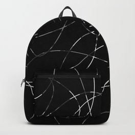 Abstract Threads Silver Dapple Backpack