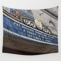 theatre Wall Tapestries featuring Pittsburgh Tour Series - Theatre Marquee by Sarah Shanely Photography