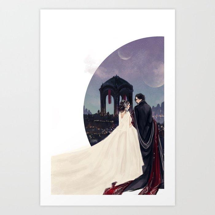 Empire Reylo Art Print