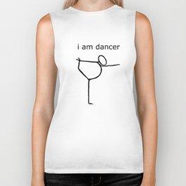 i am dancer Biker Tank