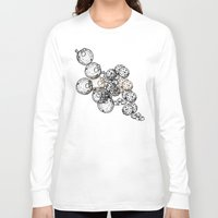 cookies Long Sleeve T-shirts featuring Cookies & Coffee by EGARCIGU