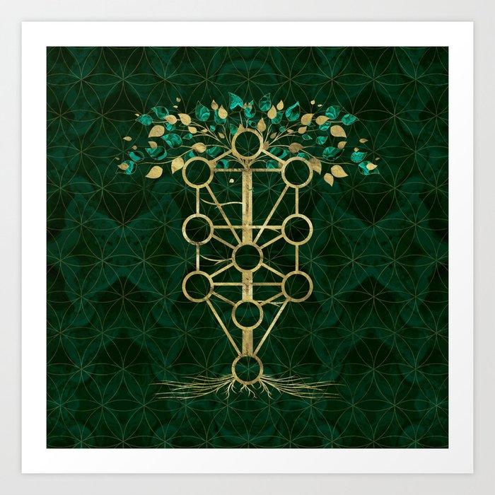 Kabbalah The Tree of Life - Etz Hayim Kunstdrucke